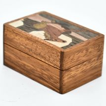 Northwoods Wooden Parquetry Country Western Running Horse Mini Trinket Box image 4