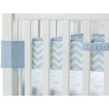 Carter's Fresh Air Crib Liner - Mesh Crib Bumper Alternative, Cloud Blue... - $29.65