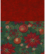 2 FQ, Very Rare Quilt Fabric,Williamsburg Christmas Memories, Poinsettia... - $3.22