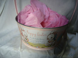 Bethany Lowe Designs Tin Pink Easter Bucket for Easter  image 3