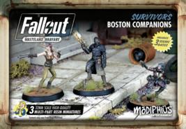 Fallout Wasteland Warfare Survivors Boston Companions Miniatures Modiphius - $22.95