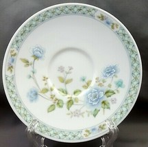 "Noritake Ireland Angel D'Amour Saucer 2769 Blue and Pink Flowers 5.75"" - $7.92"