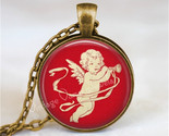 VINTAGE VALENTINE Necklace, Valentine Necklace, Cupid Necklace, Cupid, Angel, Vi
