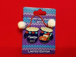 Disney Pin Happy Hoidays 2015 Resort Mittens Art of Animation CARS LE 1200 - $24.99