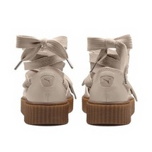 Puma Fenty Bow Creeper Sandal Womens 8 Ankle Laced Rihanna Gum Light Pink - $49.95