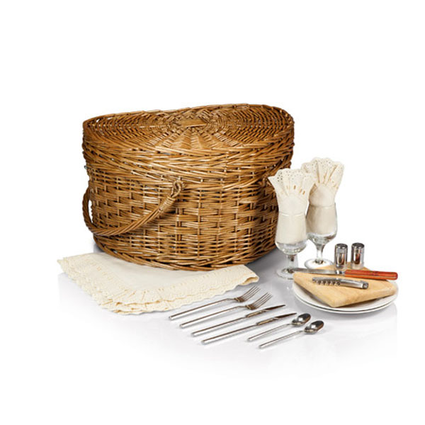 Heart Picnic Basket for Two