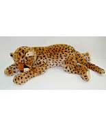"""Ty Super Sonic Cat Tiger Plush Large Laying Spotted Cheetah 20""""  2004 - $55.43"""