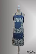 Women Apron Girls Apron Modern Embroidery Design RovaNova - $35.00