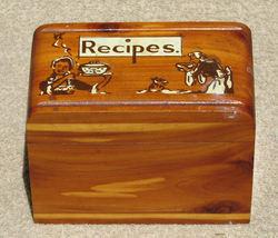 Vintage Cedar Recipe 3x5 Box Carlsbad NM Souvenir  - $28.00