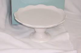 PartyLite Sidewalk Cafe Candle Garden Pedestal P8108 White Glazed Porcelain - $23.71
