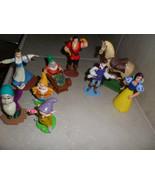 Disney's Snow White Play Set Lot Of 9Figures,Prince,4 Dwarfs,woodsman,ho... - $10.99