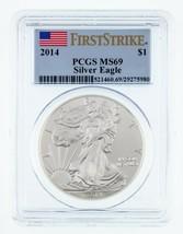 2014 1$ Argent American Eagle Gradé par PCGS comme MS-69 First Strike - $44.66