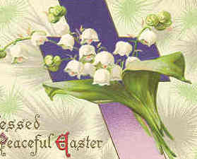 A Blessed and Peaceful Easter 1911 Vintage Post Card