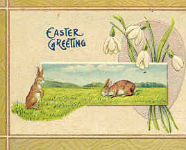 Easter Bunnies vintage 1908 Post Card