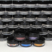 25 Empty 3 Gram Small Sample Jars Beauty Containers Lip Pot 3 Ml Black L... - $10.95