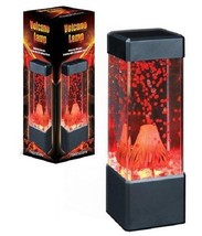 Volcano Lamp Eruption Lava Desk Accessory Night Light by Fascinations - $20.60
