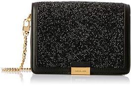 MICHAEL By Michael Kors Womens  Jade Black Embellished Medium Leather Cl... - $262.64