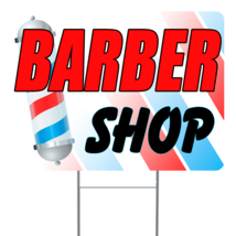 """Barber Shop  24"""" x 18"""" Double Sided Road Yard Sign: Heavy Duty Stake - $35.00"""