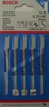 """BOSCH U211HF 3-5/8"""" 10 TPI Bi-Metal Jigsaw Blade 5pc - $2.72"""