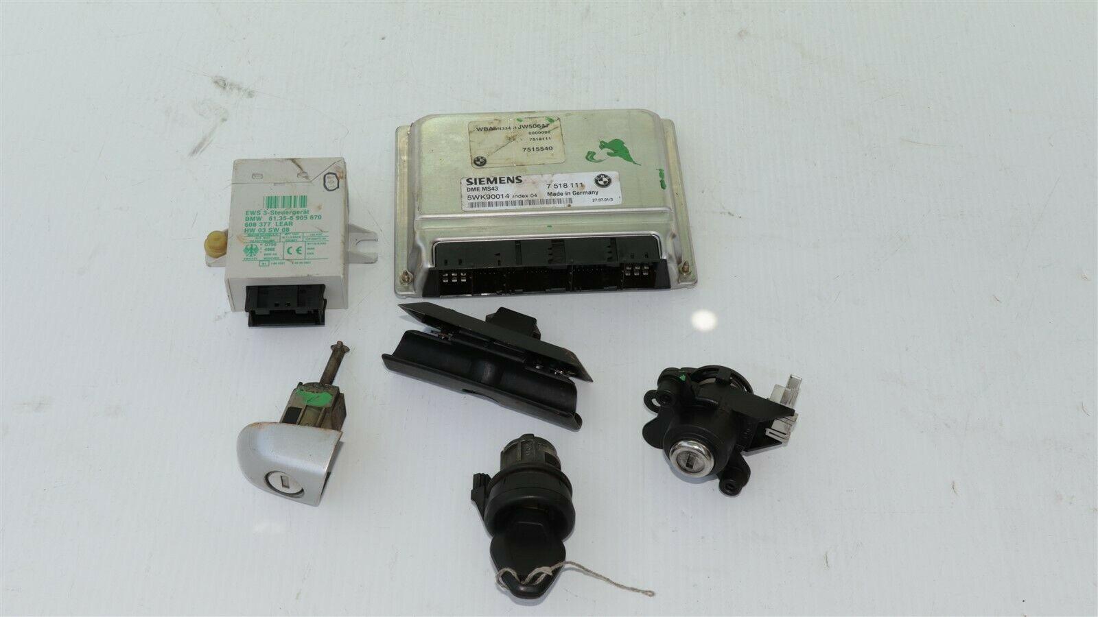 01 BMW 325Ci E46 MT 5sp M54 ECU ECM EWS DME Ignition Trunk Door GloveBox Key