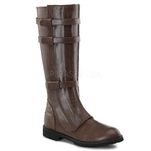 FUNTASMA Walker-130 Heel Knee-High Boots - Brown Pu - $85.95