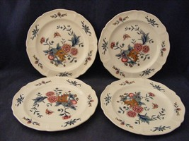 "4 Wedgwood Williamsburg Potpourri 6.5"" Bread or Dessert Plates - $19.95"