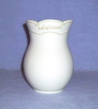 Hallmark Signature Laugh Wish Celebrate Vase Beige - $8.99