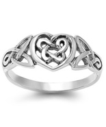 Celtic knot Sterling Silver ring - $25.00