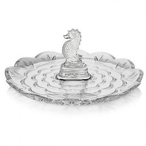 """Waterford Crystal Seahorse Round Server Tidbit Tray 9"""" Scalloped New # 4... - $126.67"""