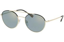 Prada Linea Rossa PS51SS AAV298 Pale Gold Black/ Yellow Blue Lens Sunglasses 54 - $173.63