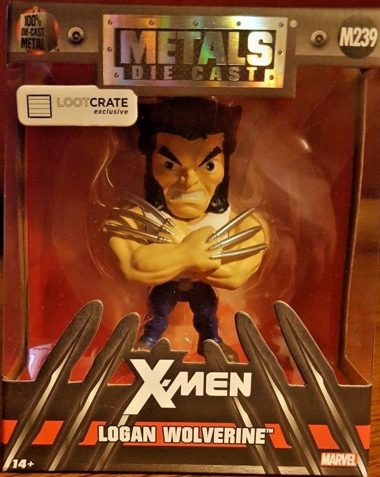 Primary image for X-Men Logan Wolverine Metals Die Cast Figure M239 - Loot Crate Exclusive