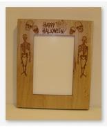 Skeleton & Skulls wooden frame opening 5x7 Doodlin Around Design - $30.60