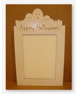 Ghost Frame white wooden frame opening 8x10 Doo... - $41.40