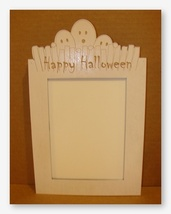 Ghost Frame white wooden frame opening 5x7 Doodlin Around Design - $30.60