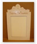 Ghost Frame white wooden frame opening 5x7 Dood... - $30.60