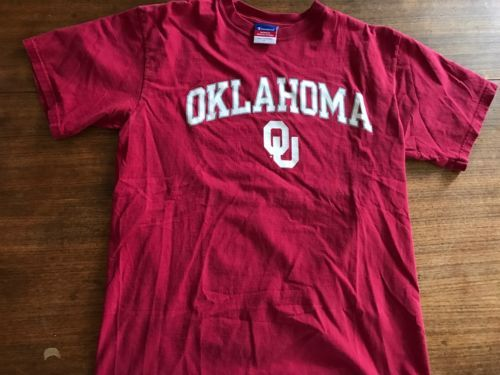 Primary image for Champion Oklahoma University Sooners T Shirt Mens Size Large