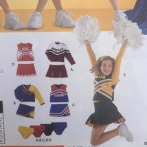 Simplicity Sewing Pattern 4040 Girls Child Cheerleader Costumes Size 8-12 New image 2