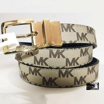 Michael Kors Reversible Leather Monogram Logo Belt Khaki 556056c Size L - $39.99