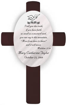 Personalized Baptism Cross - Available in 3 Designs- Free Personalization