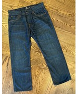 7 For All Mankind Mens 31 x 28 Austyn Jeans Dark Wash Blue 100% Cotton USA - $25.46
