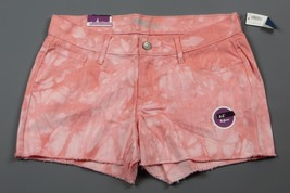 """NWT- OLD NAVY The Diva Cutoff """"Warm Tie Dye"""" Light Coral 3.5"""" Jean shorts Size 4 - $12.82"""