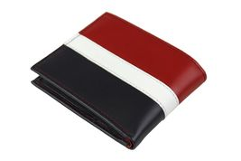 Tommy Hilfiger Men's Leather Wallet Passcase Billfold Rfid Red Navy 31TL220053 image 3