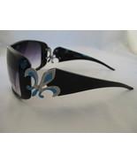 Lds Designer Inspired Bk With Fleu-de-lis Design Sunglasses - $10.95