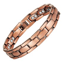 Copper Magnetic Therapy Bracelet Adjustable For Pain Relief Arthritis an... - $147.01