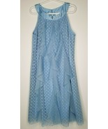 Disney Princess D-Signed Blue Hearts Ruffle Dress Size Medium 10/12 NWT ... - $27.99
