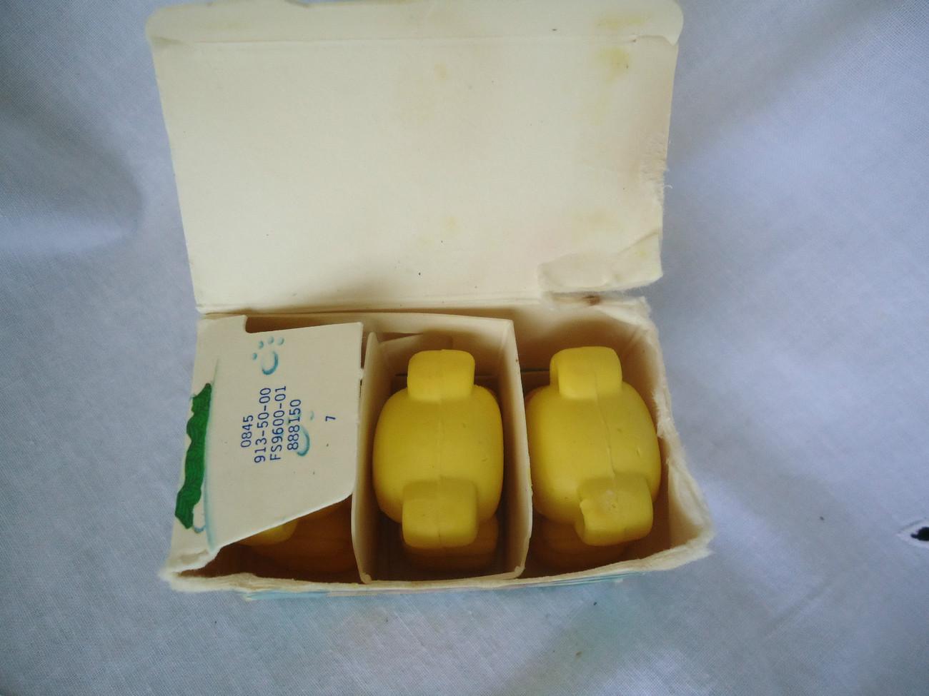 1988 AVON Tiny TEDDY BEAR  SOAPS Yellow Teddy Bears