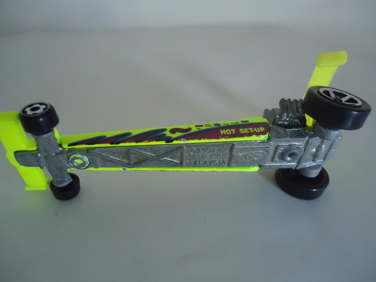 1992 Hot Wheels  - Yellow Hot Set-Up Dragster