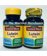 (2) Nature Made Lutein 20 mg 30 softgels each Free US Ship 2/2022 FRESH! - $17.88