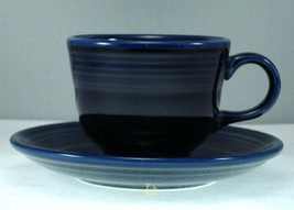 Homer Laughlin Fiesta Cobalt Blue Cup and Saucer - $9.27