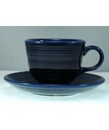 Homer Laughlin Fiesta Cobalt Blue Cup and Saucer - $9.27